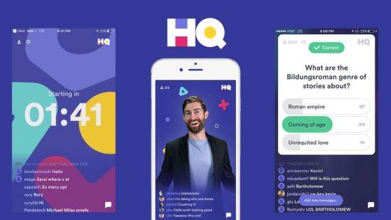 모바일 퀴즈쇼 앱의 원조인 'HQ trivia'