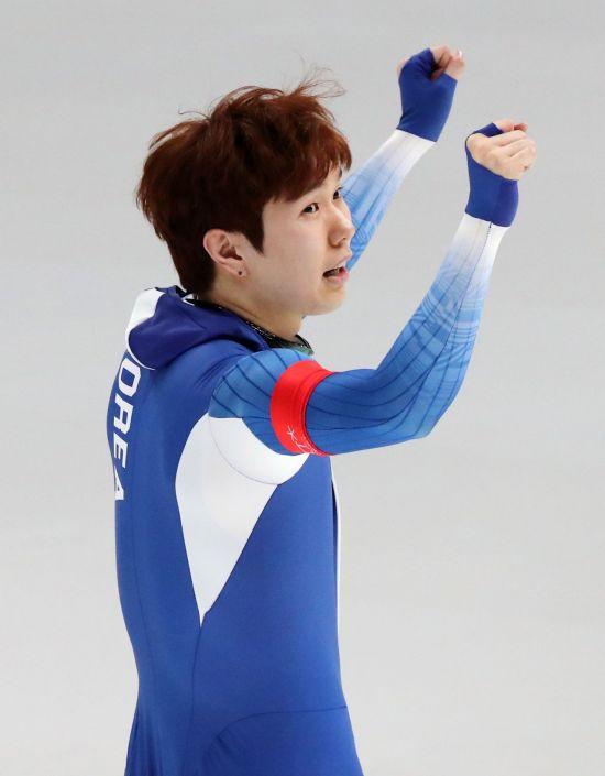 평창동계올림픽에서 스피드스케이팅 남자 1000m 경기에서 동메달을 딴 김태윤 선수<이미지출처:연합뉴스>