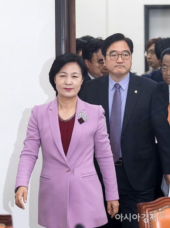 추미애 더불어민주당 대표와 우원식 원내대표.