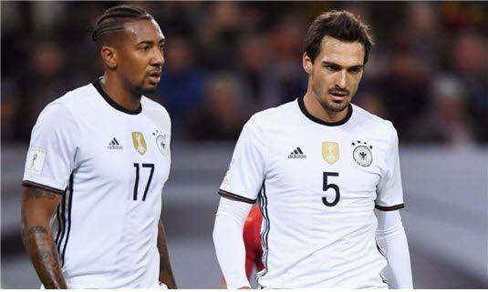 독일 축구 대표 팀의 수비를 책임지고 있는 바이에른 뮌헨의 제롬 보아텡(좌)과 마츠 훔멜스(우) 콤비. 사진=슈포트빌트 제공