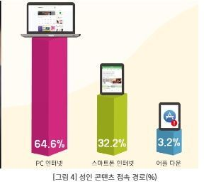 성인 콘텐츠, 남성·기혼자가 더 이용…월 평균 46분