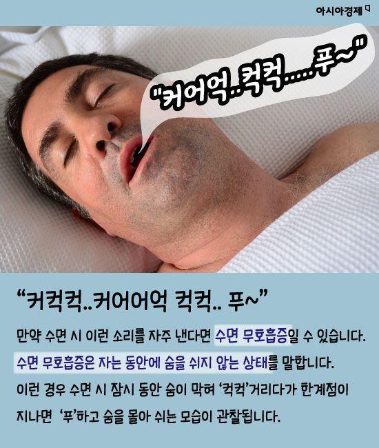 코 안고는데 일어나면 찌뿌둥..혹시 수면무호흡증?