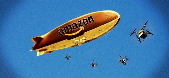 하늘에 물류센터 띄우고, 드론이 들락거리며 배송