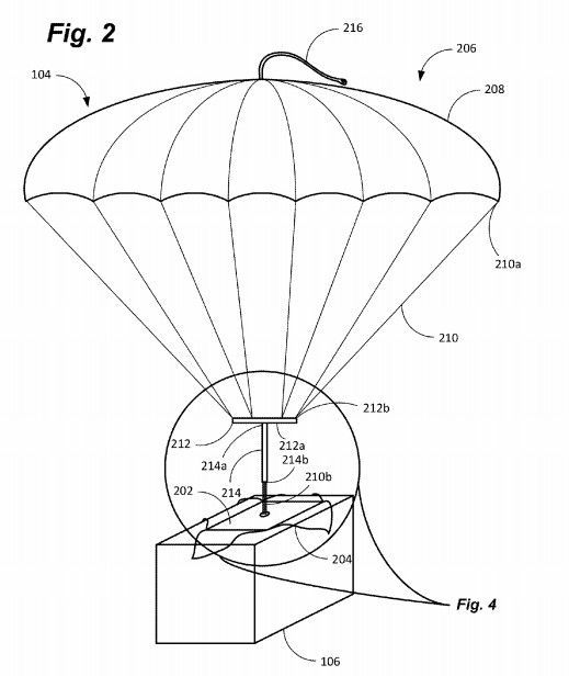 택배송장 낙하산 특허