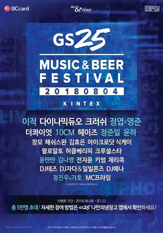 GS25, 내달 4일 맥주와 뮤직 축제 '뮤비페' 개최