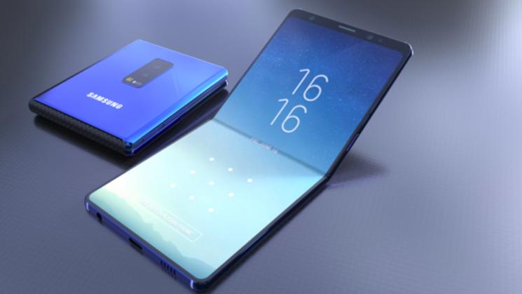 삼성전자의 폴더블 스마트폰 상상도
