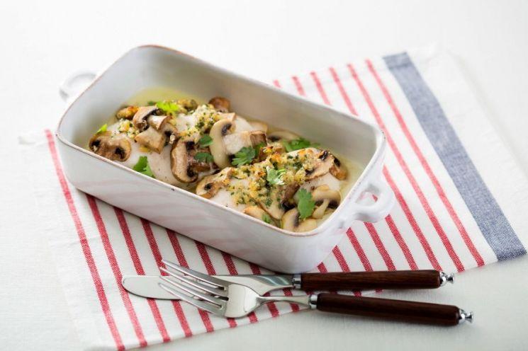 닭가슴살 버섯구이와 마늘버터