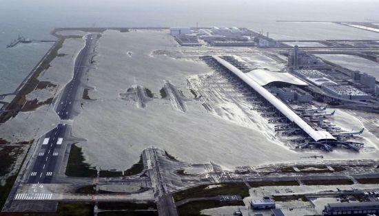 제21호 태풍 제비로 인해 침수된 일본 간사이국제공항.사진=AP연합뉴스