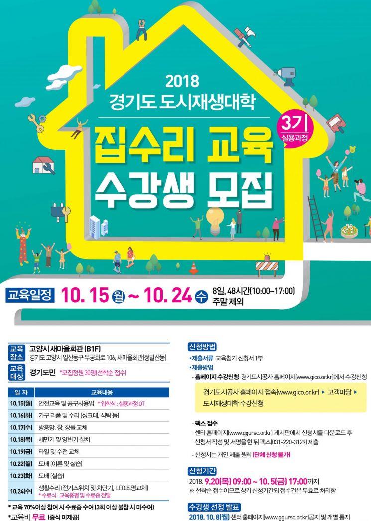 경기도시공사 '집수리과정' 수강생 모집