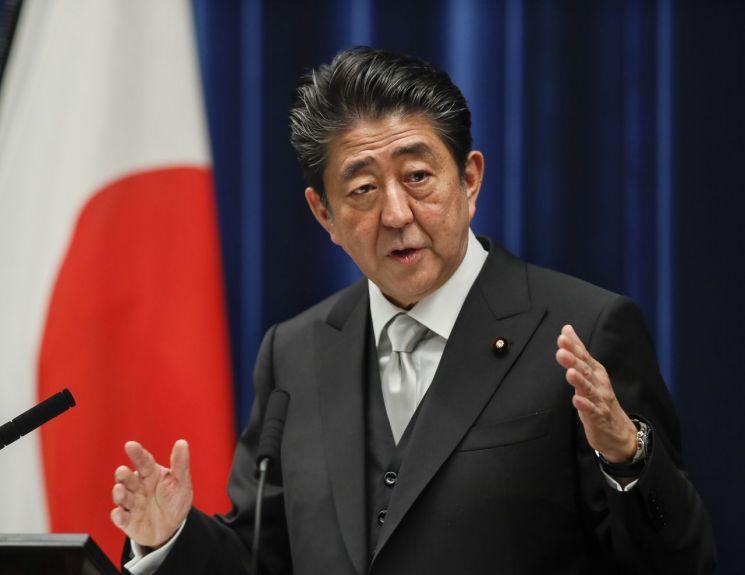 아베 신조 일본 총리 [이미지출처=EPA연합뉴스]