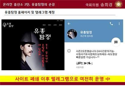 유흥탐정은 폐쇄된 것으로 알려졌으나 텔레그램으로 온라인상 장소를 옮겨 성업 중인 것으로 확인됐다.