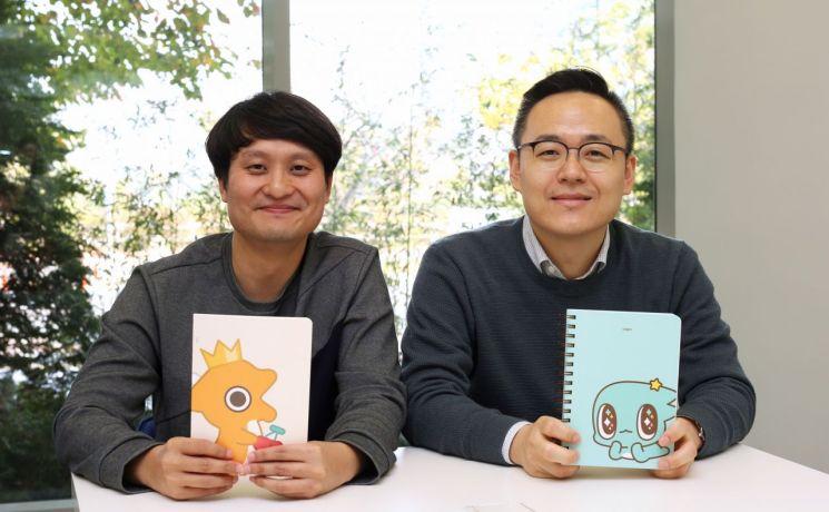 윤진호 UX Design실 콘텐츠유통사업팀장(왼쪽), 이기동 UX Design실 브랜드사업팀장(오른쪽)