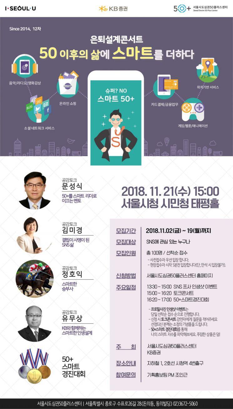 KB證, 서울시와 함께 스마트한 은퇴설계 콘서트 개최