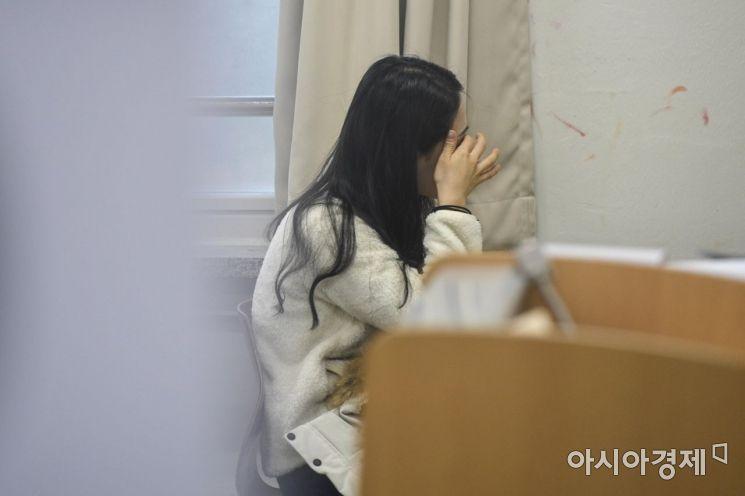 한 수험생이 시험 시작을 기다리고 있는 모습. 강진형 기자aymsdream@