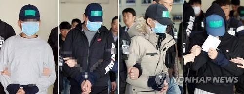 인천 중학생 집단폭행 추락사 사건 가해 중학생 4명.사진=연합뉴스