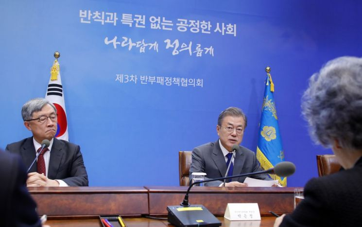 문재인 대통령이 지난해 11월20일 청와대에서 열린 제3차 반부패정책협의회에서 발언하고 있다. [이미지출처=연합뉴스]