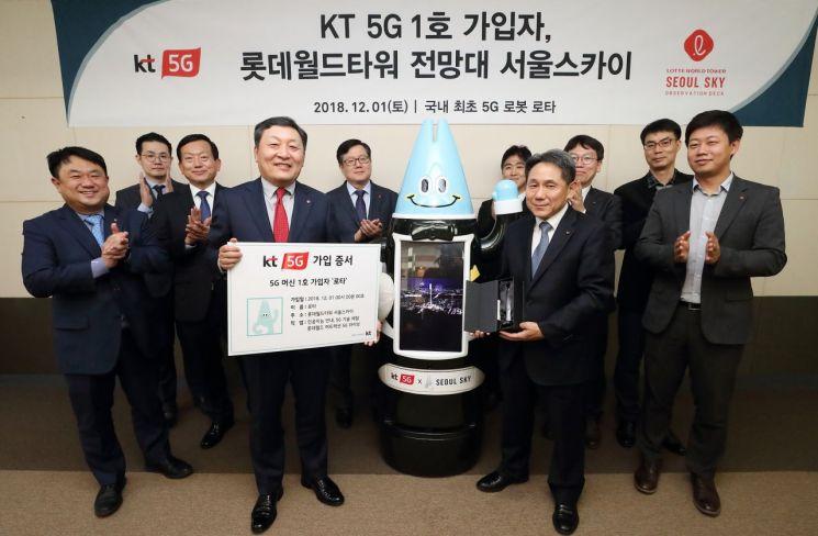 KT는 5G 1호 가입자가 일반인이나 기업이 아닌 로봇이라고 1일 밝혔다. KT는 5G 1호 가입자로 '로타'를 선정한 것은 단순한 이동통신 세대의 교체가 아닌 생활과 산업 전반을 혁신하는 플랫폼이 될 것이라는 의미를 담았다고 했다.