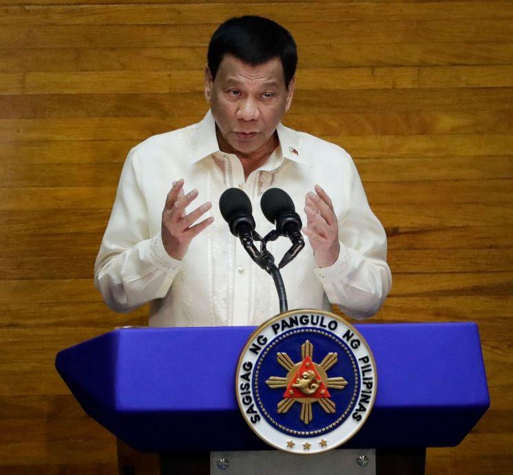 로드리고 두테르테 필리핀 대통령(사진출처=연합뉴스)
