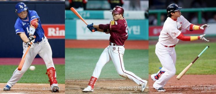 삼성 이지영(좌), 넥센 고종욱(중), SK 김동엽(우)으로 이루어진 삼각 트레이드가 단행됐다. 사진=아시아경제DB