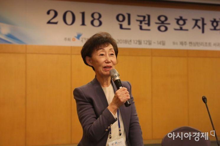 최영애 국가인권위원회 위원장.