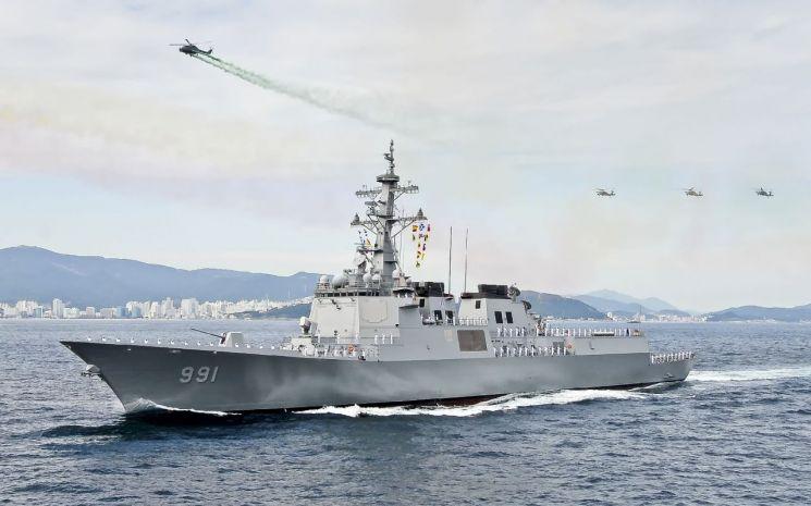 한국 해군의 이지스 구축함 세종대왕함. 자료사진.