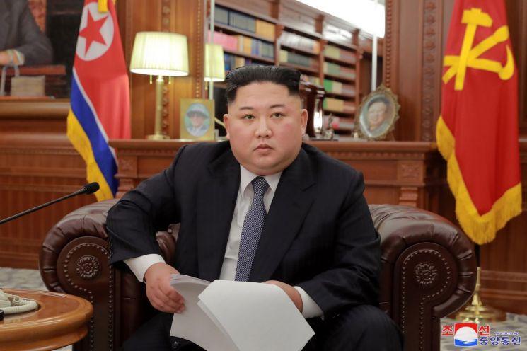 2019년 신년사를 발표하는 김정은 북한 국무위원장. [이미지출처=연합뉴스]