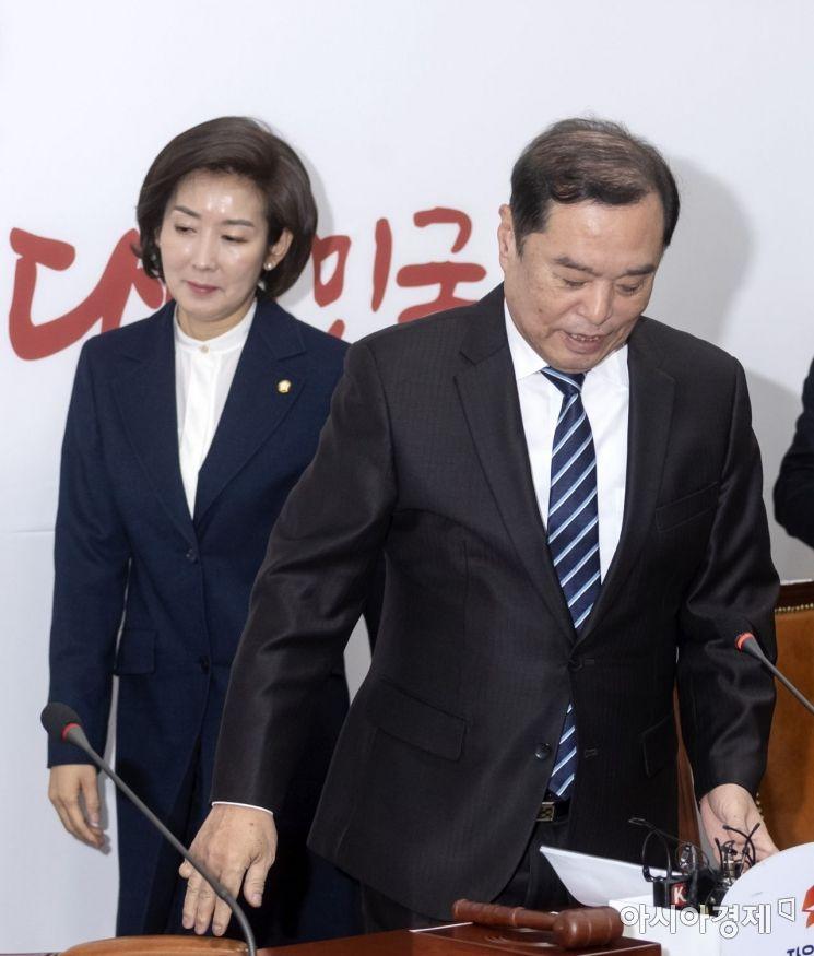 [포토] 회의 참석하는 김병준-나경원