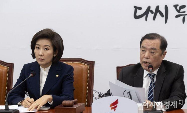 [포토] 발언하는 김병준 자한당 비대위원장
