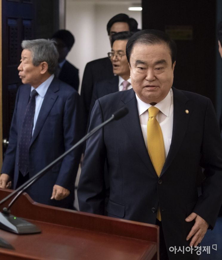 [포토] 기자회견 갖는 문희상 의장
