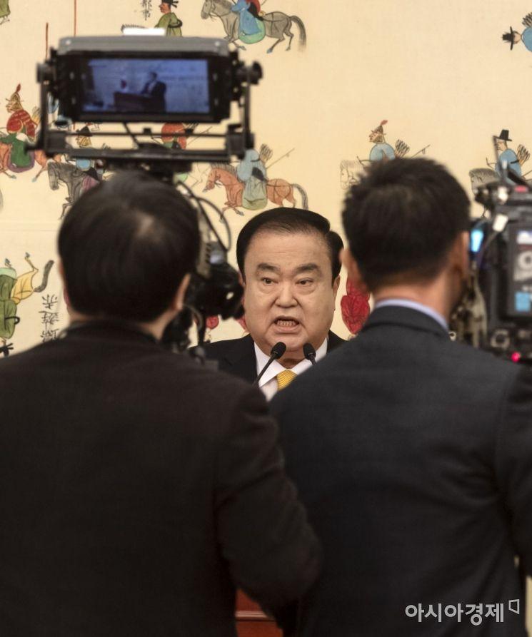 [포토] 문희상 국회의장, 신년맞이 기자회견