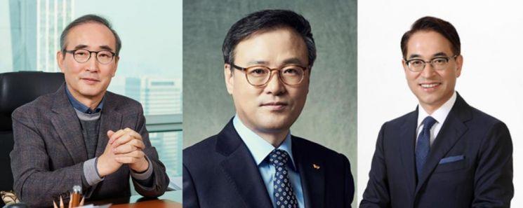 왼쪽부터 김영섭 LG CNS 대표, 장동현 SK㈜ 대표, 홍원표 삼성SDS 대표