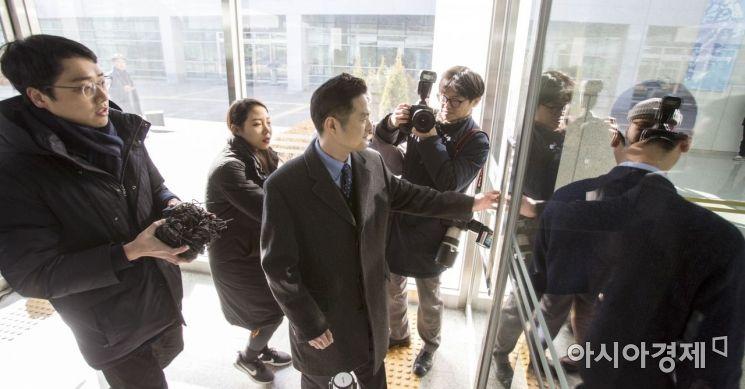 [포토] 동부지검 출석한 김태우 수사관