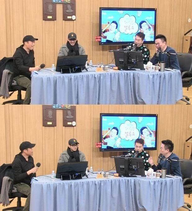 배우 유해진이 방송인 권혁수가 자신의 성대모사를 잘 한다고 평가했다. / 사진=SBS 보이는 라디오