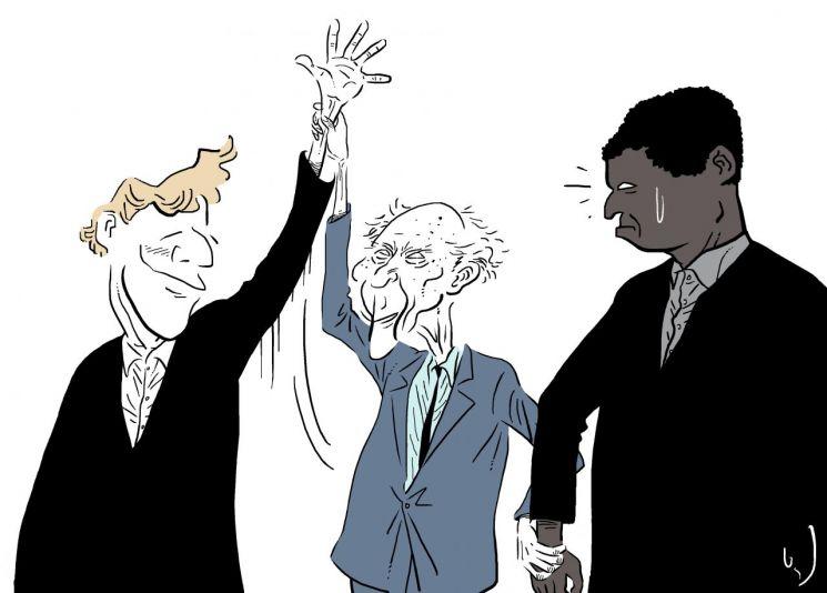 "DNA(유전자)의 아버지라 불리는 미국 과학자 제임스 왓슨(90)이 최근 한 인터뷰에서 ""백인이 흑인보다 우월하다""고 발언해 논란이 된 가운데, 백인과 흑인의 지능차이를 유전학적으로 입증할 수 있는지 여부에 관심이 집중되고 있다. 일러스트 = 오성수 작가"