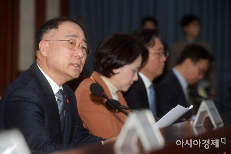 [포토]경제활력 대책회의 주재하는 홍남기 부총리