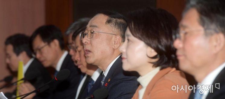 [포토]모두발언하는 홍남기 경제부총리 겸 기획재정부 장관