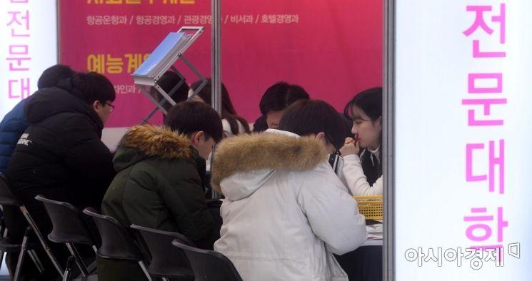 [포토] 전문대학 입학정보 박람회 찾은 수험생들