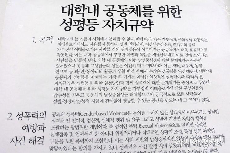 [포토]연세대 총여학생회 '운명의 날'