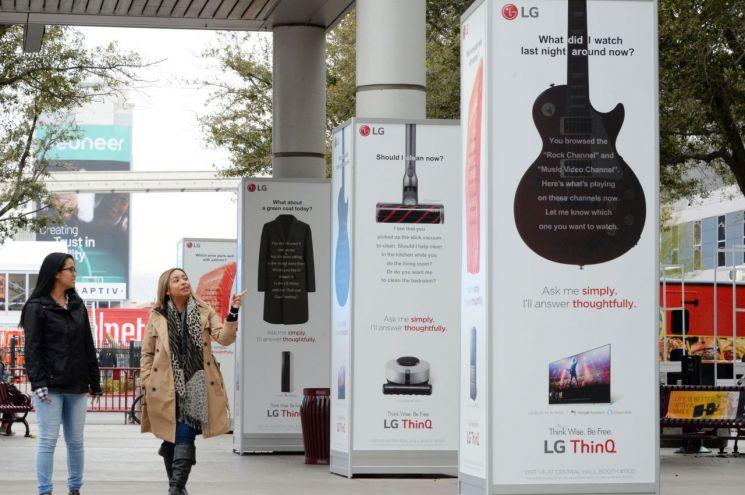 [CES2019]LG전자, 'LG ThinQ' 옥외 광고로 관람객 맞이