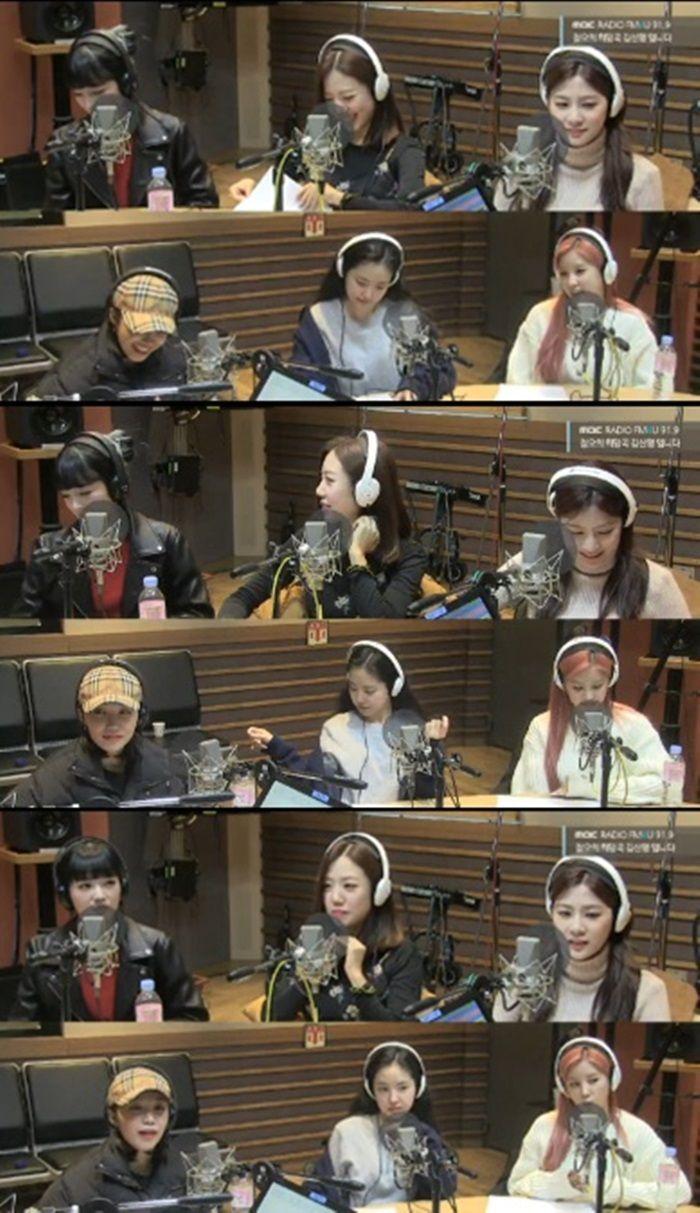 '정오의 희망곡'에 출연한 에이핑크. 사진=MBC FM4U 캡처