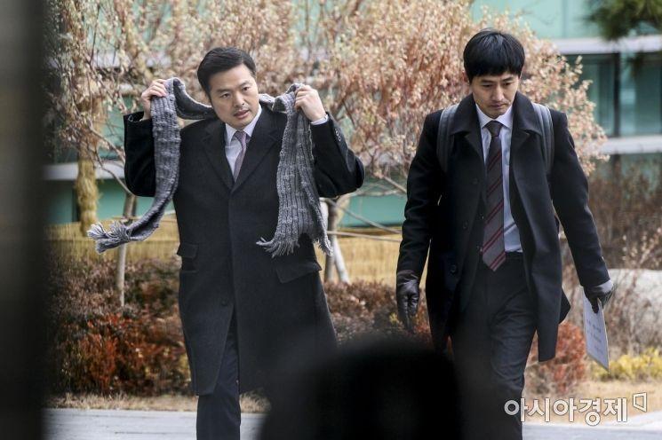 [포토] 동부지검 도착한 김태우 수사관