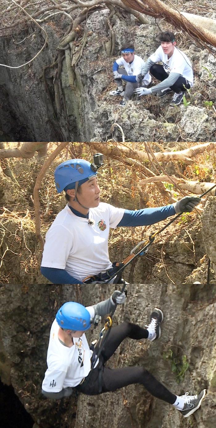 '정글의 법칙' 수장 김병만과 '마린보이' 박태환. 사진=SBS 제공