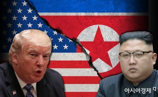 도널드 트럼프 미국 대통령(왼쪽)과 김정은 북한 국무위원장