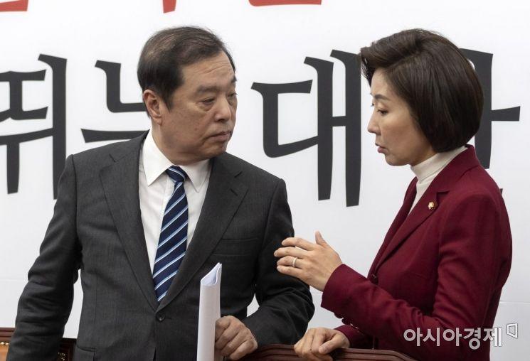[포토] 심각한 표정의 김병준-나경원