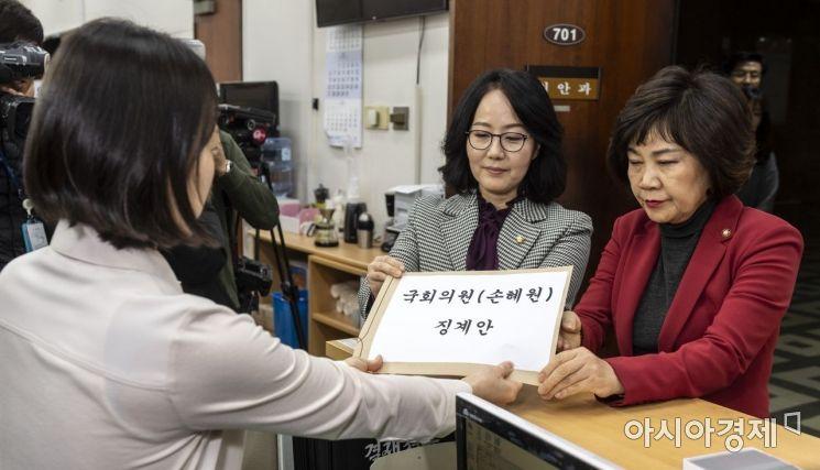 [포토] 자유한국당, 손혜원 의원 징계요구안 제출