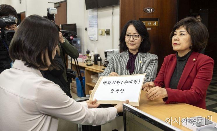 [포토] 손혜원 징계요구안 제출하는 자유한국당