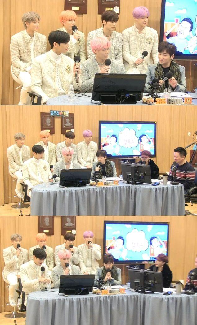 '두시탈출 컬투쇼'에 출연한 아스트로와 딘딘. 사진=SBS 파워 FM 방송화면 캡처