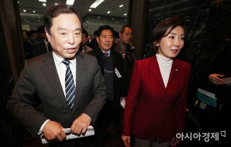 [포토] 전국상임위 참석하는 김병준-나경원