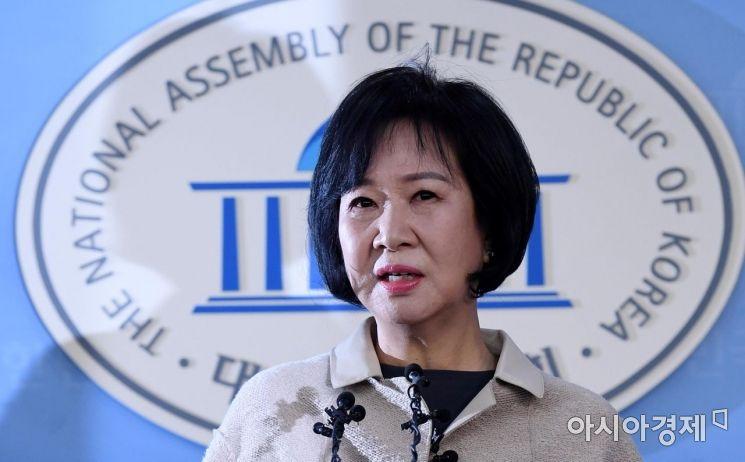 손혜원 더불어민주당 의원이 20일 국회 정론관에서 기자회견을 열고 목포 부동산 투기 의혹에 대해 해명하고 있다./김현민 기자 kimhyun81@