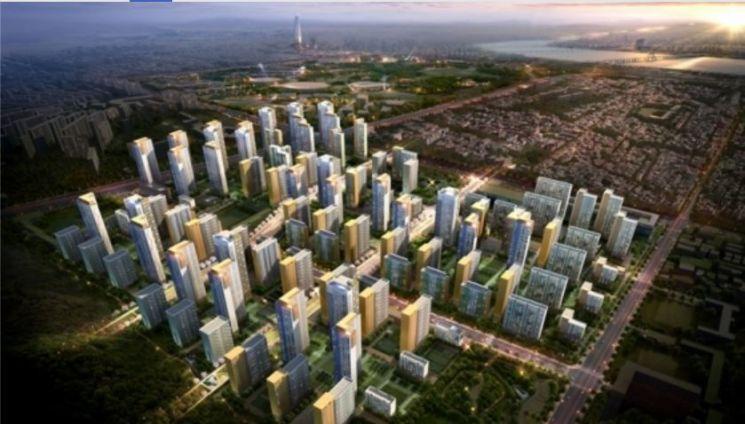 현대건설이 오는 9월 일반분양을 계획한 서울 강동구 둔촌주공아파트 재건축 조감도
